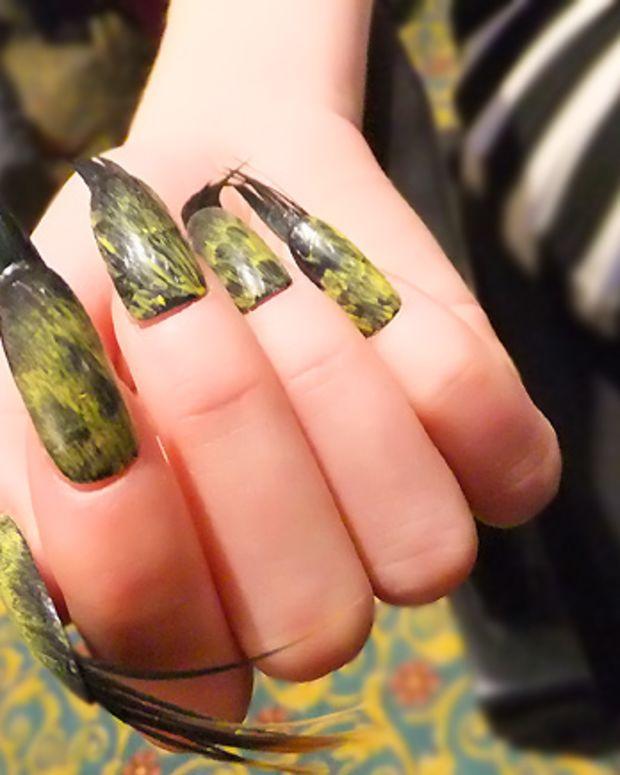 Feather-tip nails at Lucian Matis FW2012_Tips Nail Bar