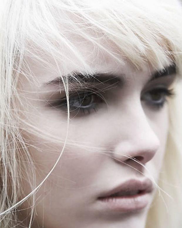 white hair dark brows