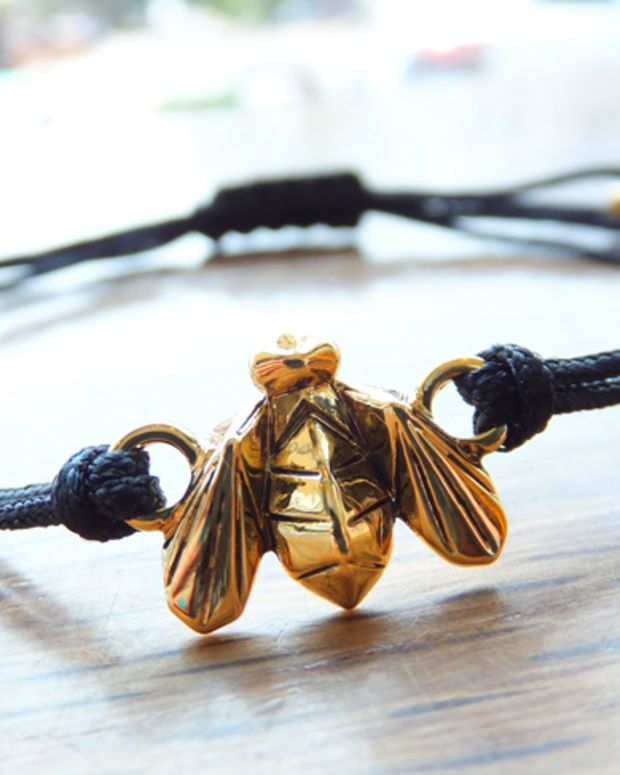 For the Bees bracelet by Jenny Bird for Burt's Bees