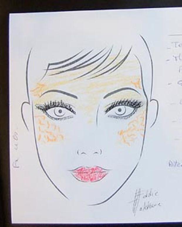 Eddie Malter Gaudet beauty sketch LGFW Fall 2010