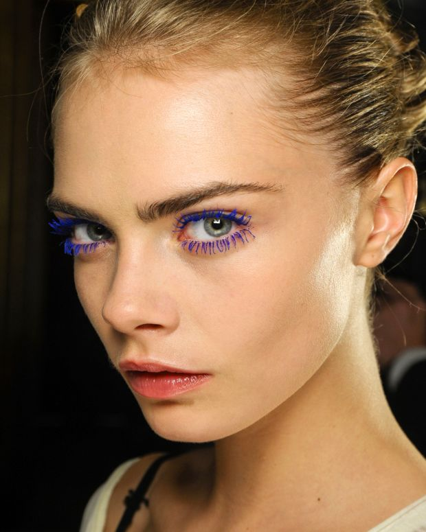 Beauty- Cara Delevigne backstage at Stella McCartney fw12