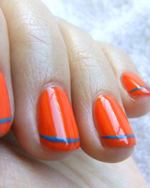 YSL Summer 2011 nail polish in Ultra Orange and Utopian Turquoise_Tips Nail Bar_BEAUTYGEEKS_imabeautygeek.com