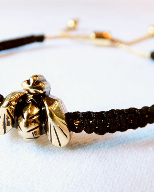 Burts Bees Wild for Bees bracelet by Jenny Bird_limited edition 2013_photo by Janine Falcon_imabeautygeek.com