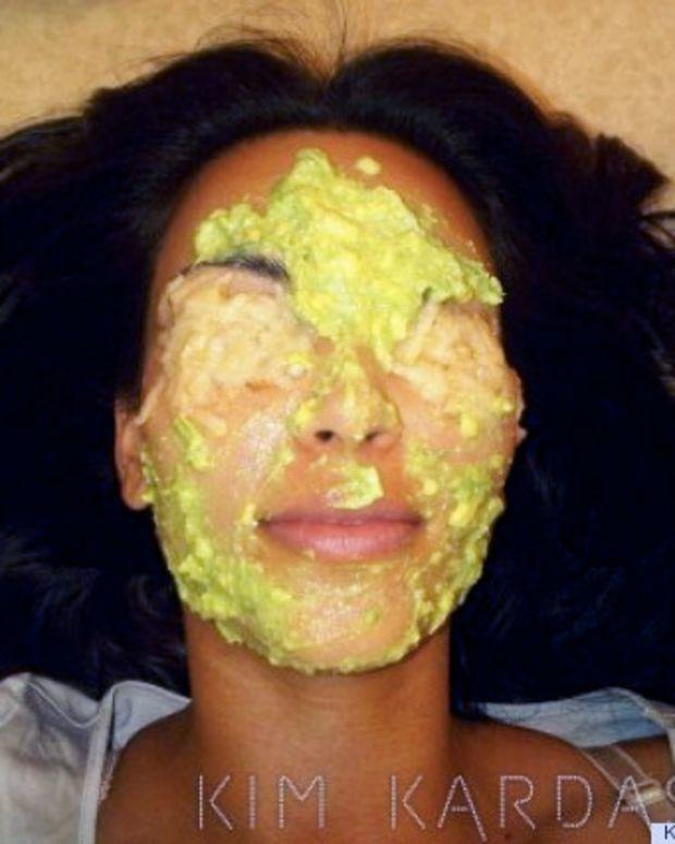 avocado beauty treatments_avocado face mask_Kim Kardashian
