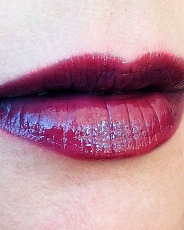 Mary Kay Mystic Plum True Dimensions lipstick and Mary Kay Crushed Plum Jelly Lip Gloss