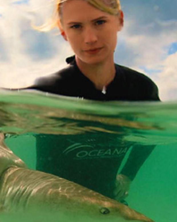 January Jones_Scared for Sharks_Oceana