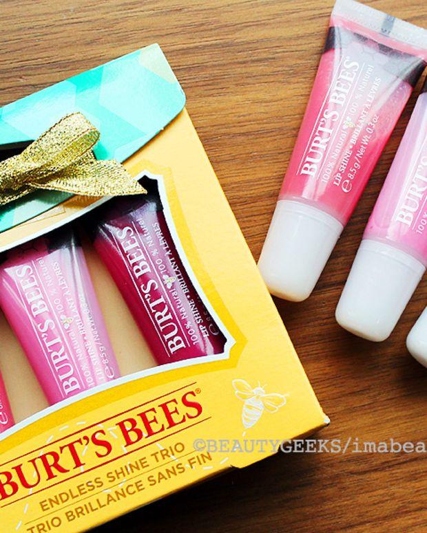 Burt's Bees Holiday 2014_Burt's Bees Endless Shine Trio of natural lip gloss
