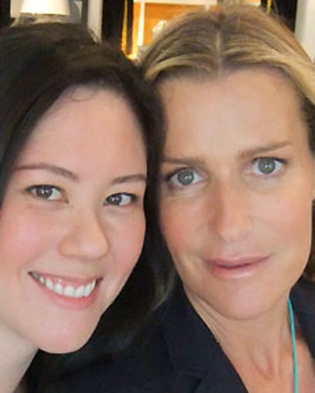 Janine Falcon and India Hicks