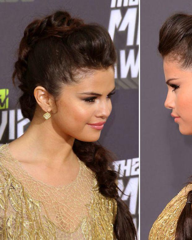 Selena Gomez_knotty braid_2013 MTV Movie Awards