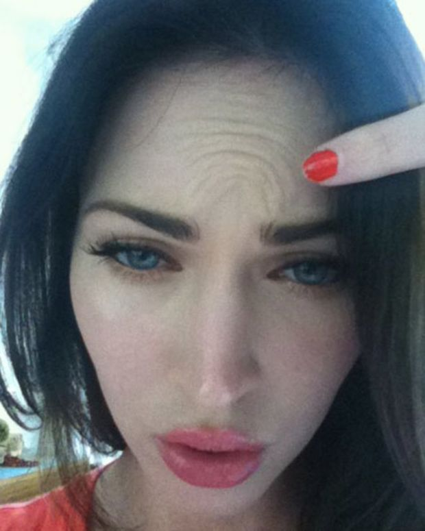Megan Fox forehead
