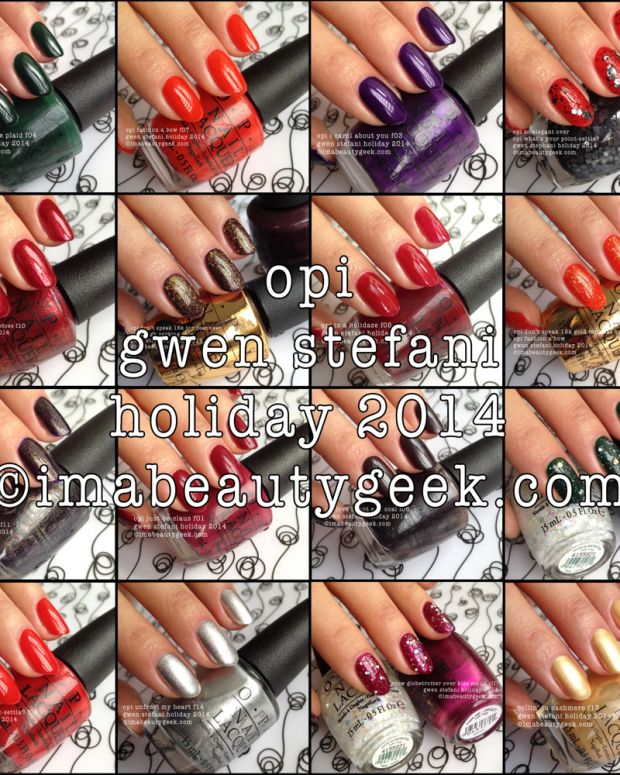 Gwen Stefani Holiday 2014 all swatches