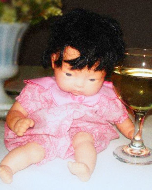 Asian baby doll at Lesa's wedding