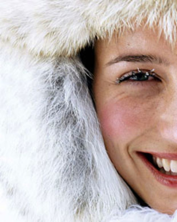 winter-flushed cheeks