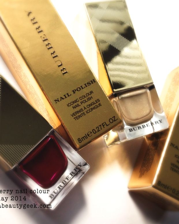 Burberry Gold Polish Oxblood Polish Holiday 2014