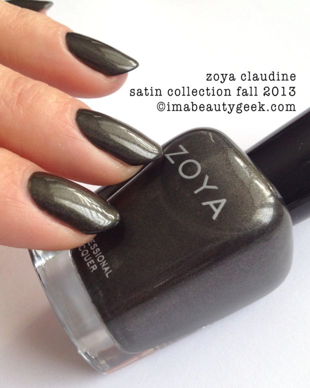 Zoya Claudine Swatched Fall 2013 Satin Collection