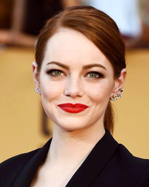 Emma Stone Red Lips SAG Awards 2015