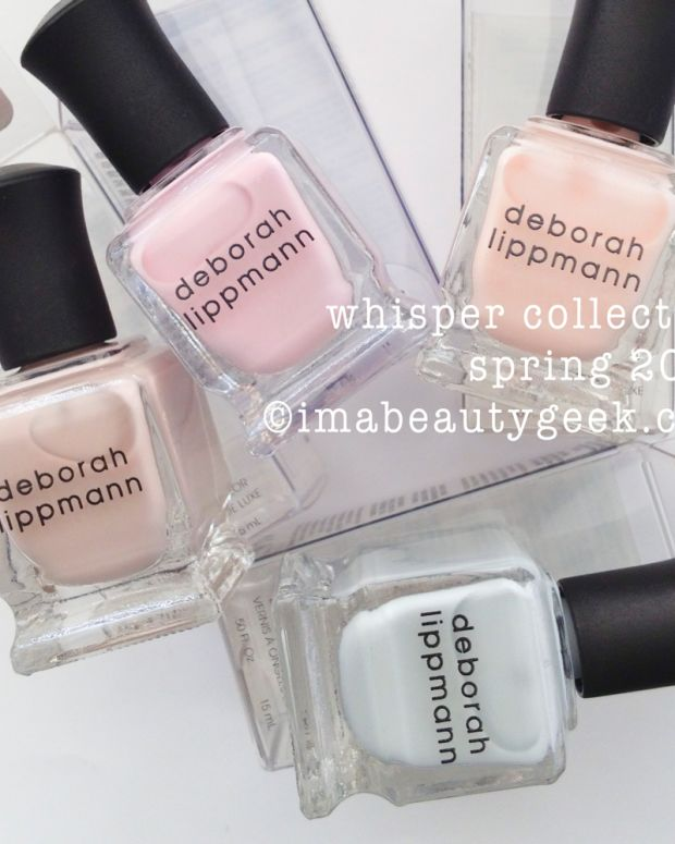 Deborah Lippmann Whisper Collection Spring 2015 Swatched