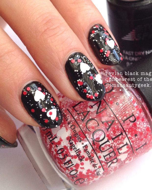 Super Easy Valentine's Day Nails