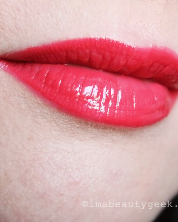 Chanel Rouge Double Intensite Ultra Wear Lip Color in Strawberry Red promo size