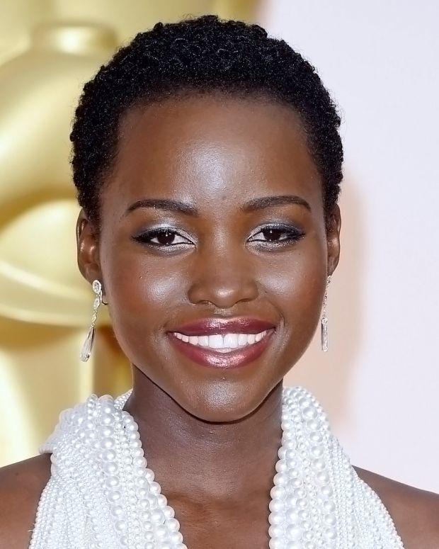 Lupita Nyong'o 2015 Oscars makeup by Nick Barose and Lancome