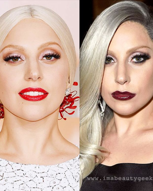 Lady Gaga exact makeup 2015 Oscars and Vanity Fair afterparty