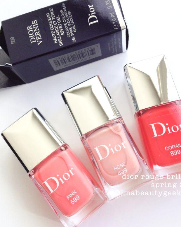 Dior Vernis Rose 499 Pink 599 Corail 899