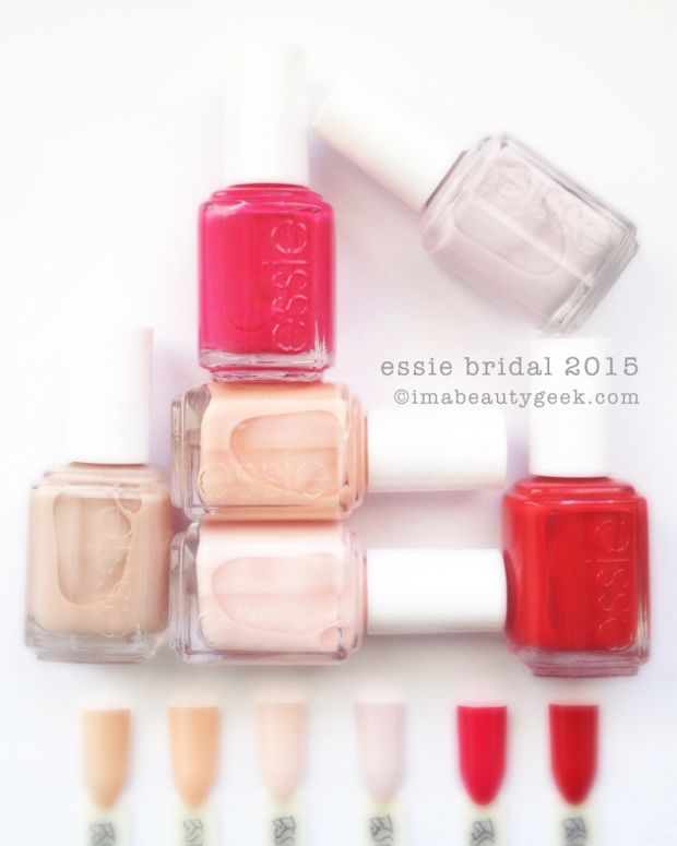 Essie Bridal 2015 Collection Swatches and Review