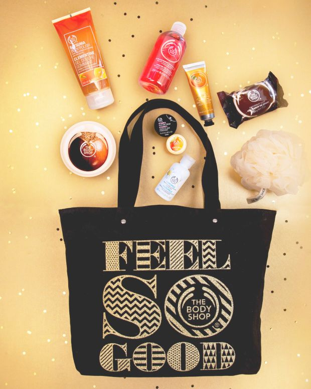 The Body Shop Feel So Good Black Friday tote.jpg