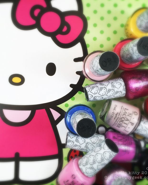 OPI Hello Kitty Swatches Review Comparisons