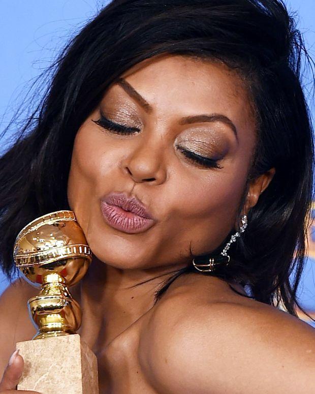 Taraji P Henson Golden Globes makeup 2016