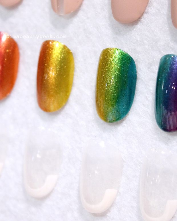 Essie Silk Watercolor Rainbow Ombre mani how-to