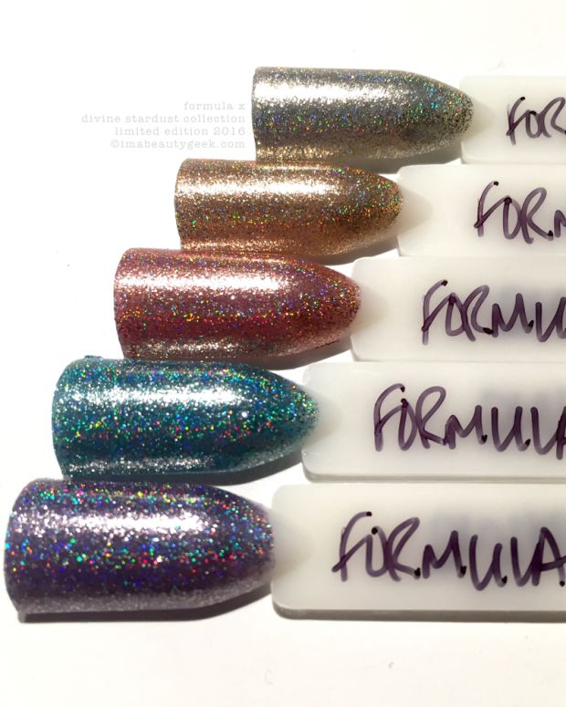 Formula X Divine Stardust Collection Swatches 2016 Limited Edition