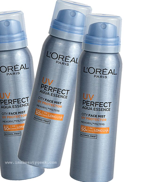 L'Oréal Paris UV Perfect Aqua Essence City Face Mist UV Protector SPF 50 – only in Asia, eh?