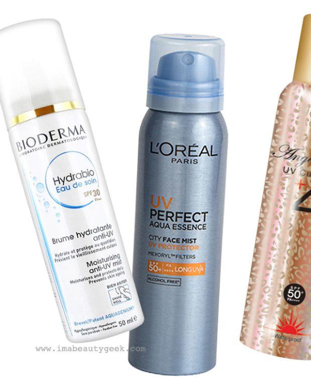 SPF face mists_sunscreen spray water