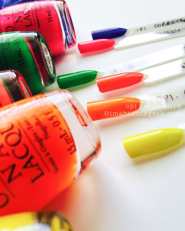 OPI Neons OPI Tru Neons Swatches and Review Maingeek