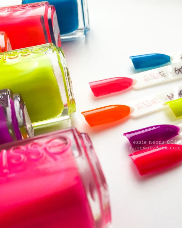 Essie Neons 2016 Collection Swatches Review