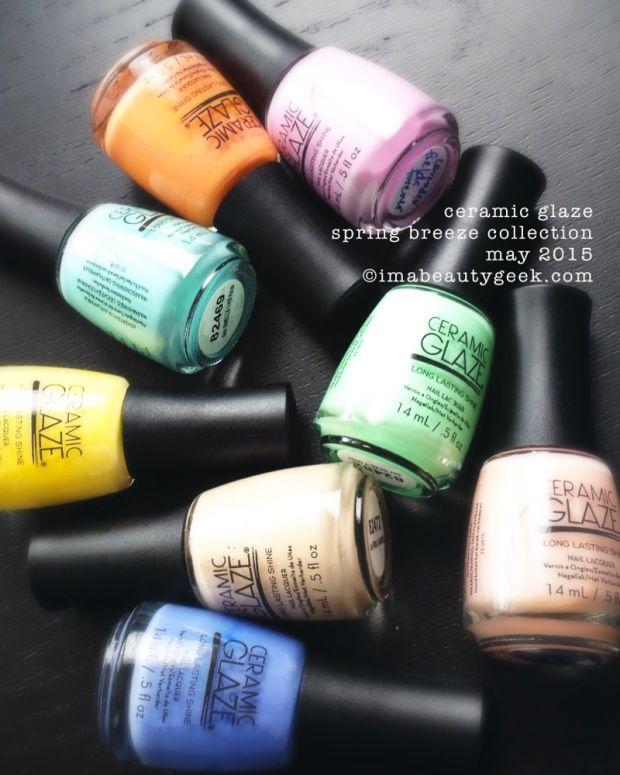 Ceramic Glaze Nail Polish Spring Breeze Collection 2015