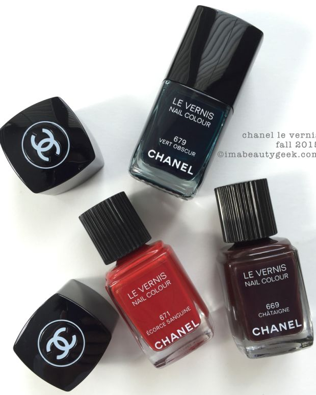 Chanel Fall 2015 Le Vernis Swatches and Review