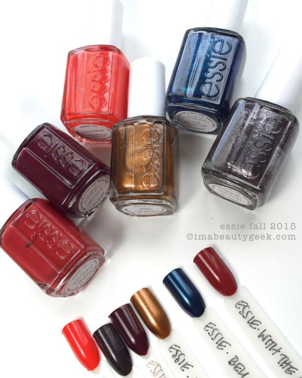 Essie Fall 2015 Swatches Review Beautygeeks
