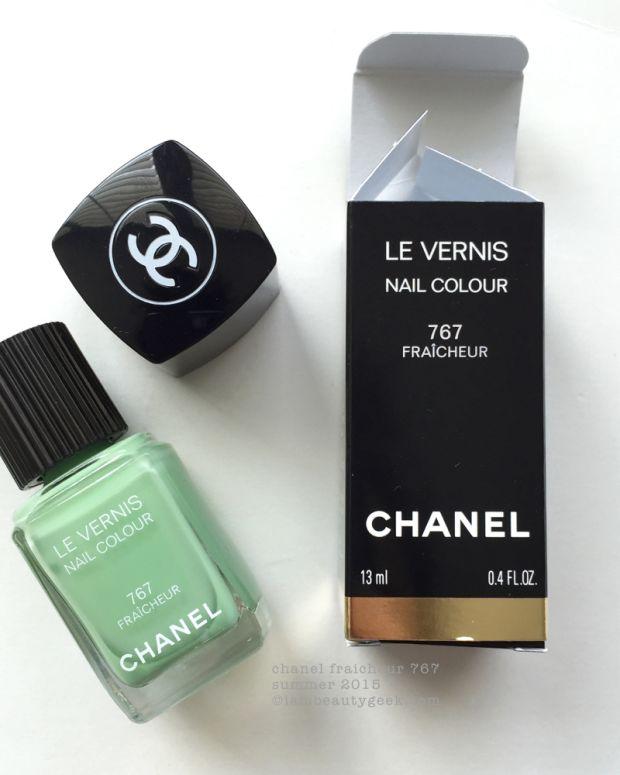 Chanel Fraicheur 767 Le Vernis Nail Polish Swatches