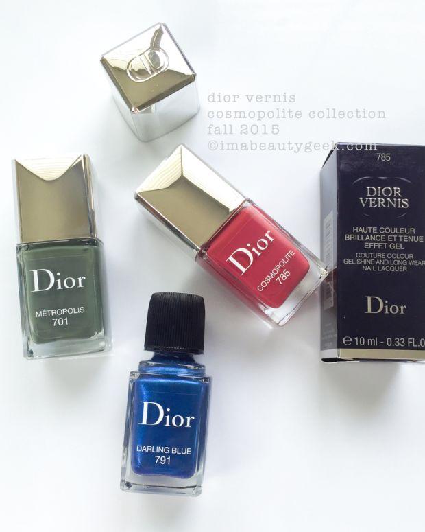 Dior Cosmopolite Fall 2015 Nail Polish Swatches