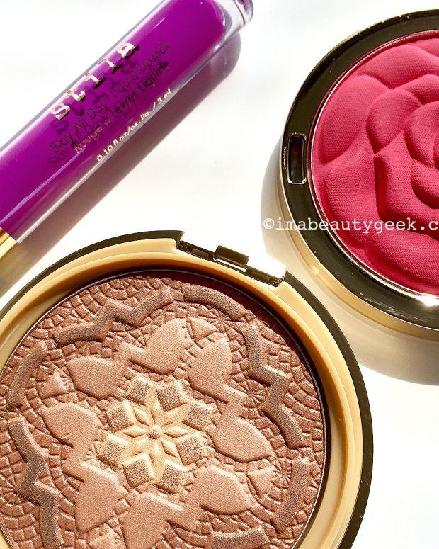 Stila Stay All Day Liquid Lipstick_Milani Blush_Physicians Formula bronzer