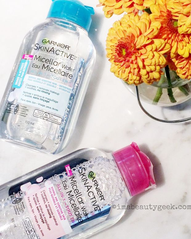 micellar water_Garnier SkinActive micellar water cleansers_TSA travel-size bottles
