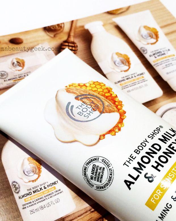 The Body Shop Almond Milk & Honey for sensitive dry skin