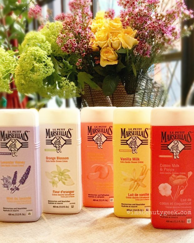 Le Petit Marseillais body washes in Canada and USA