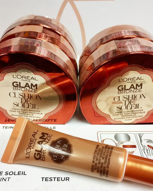L'Oreal Paris Glam Bronze Cushion de Soleil tester out