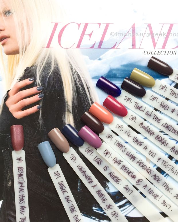 OPI Iceland Swatches Review FW 2017 Collection