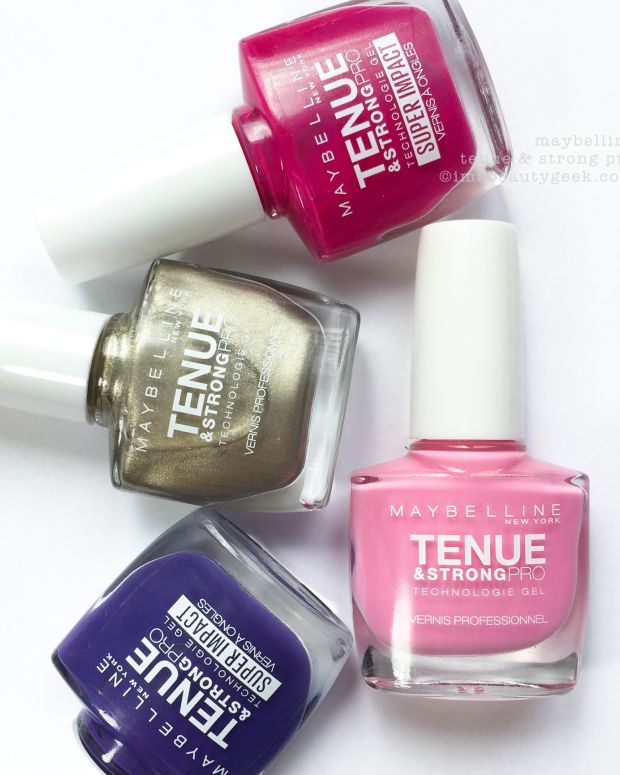 Maybelline Tenue Strong Pro Swatches Review Nail Polish
