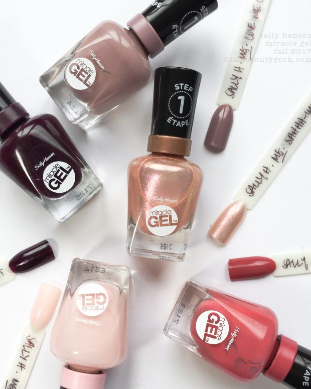 Sally Hansen Miracle Gel French Romance Swatches Fall 2017