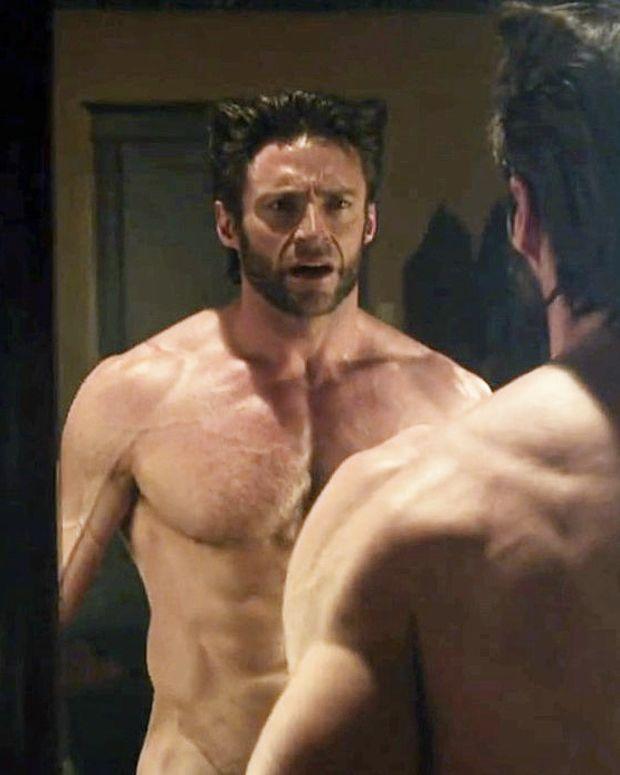 Hugh Jackman as Wolverine with UVA/UVB damage